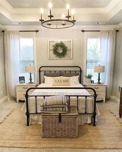 romantic rustic farmhouse master bedroom decorating ideas  regina modern farmhouse