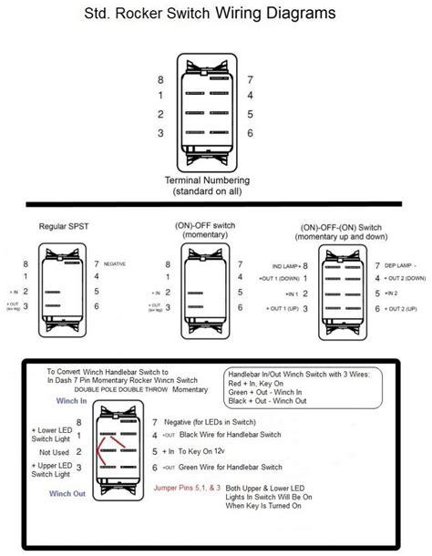new warn winch rocker switch wiring diagram atv winch switch wiring diagram sketch