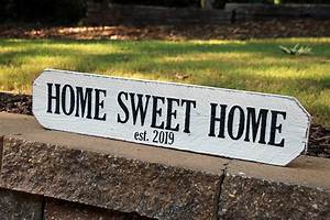 Personalized, Home, Sweet, Home, Sign