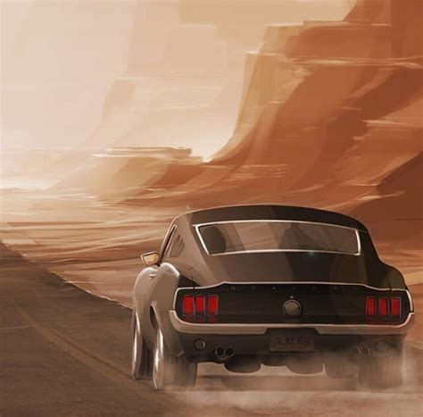 1967 Ford Mustang Fastback In Arizona Iphone Wallpaper
