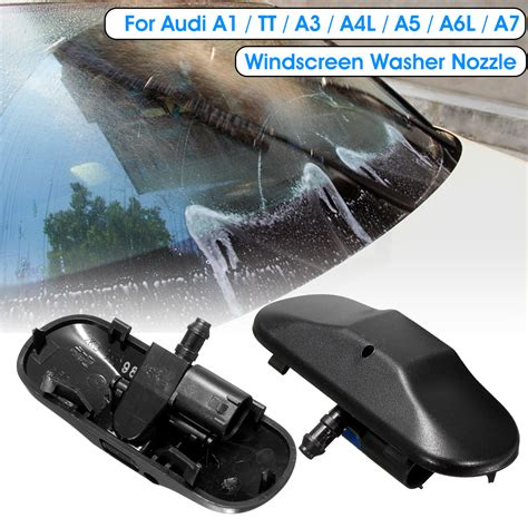 windshield wiper water spray jet washer nozzle for audi a1 a3 a4l a5 a6l a7 sale banggood com