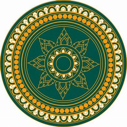Thai Decoration Thailand Vector Clipart Clip Circle