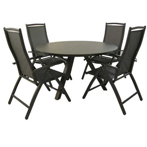 conjunto de jardin mesa redonda   sillones reclinables