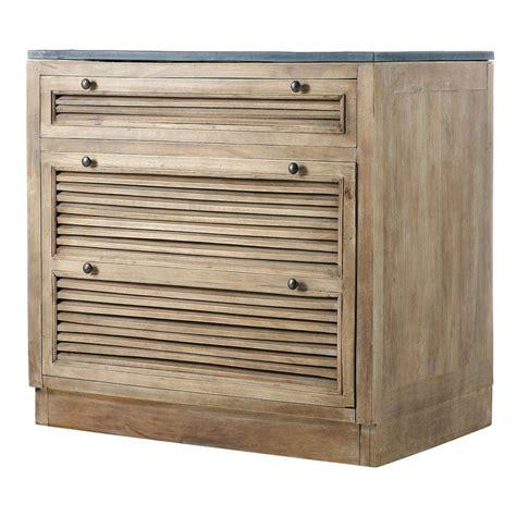 meuble cuisine persienne meuble bas de cuisine en manguier l 90 cm persiennes