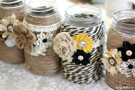 Decorating Ideas Glass Jars by Diy Embellished Glass Jars Jen Schmidt