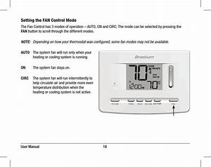 7205 Electronic Thermostat User Manual Braeburn Systems