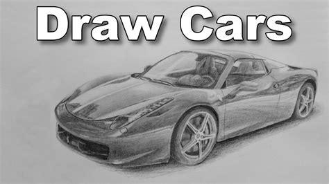 ferrari sketch view how to draw a car ferrari pencil drawing time lapse