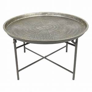round metal coffee table at home With tin coffee table