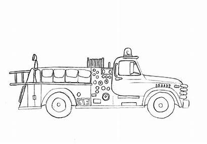 Coloring Truck Fire Pages Simple Forget Supplies