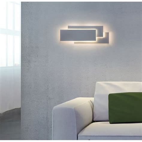 led white wall panel light in contemporary design low energy
