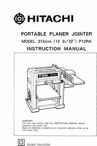 Hitachi Planer P12ra User Guide
