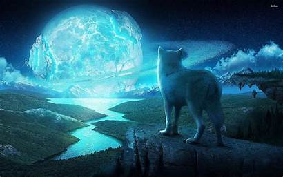 Howling Wolf Moon Wallpapers Ice Pack Desktop