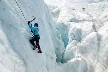 Climbing Ice Glacier Femminile Radice Ghiacciaio Ghiaccio