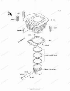 Kawasaki Atv 1999 Oem Parts Diagram For Cylinder  Piston S