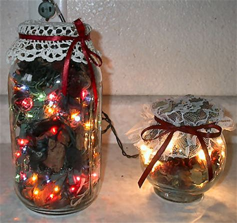 christmas lites in a jar