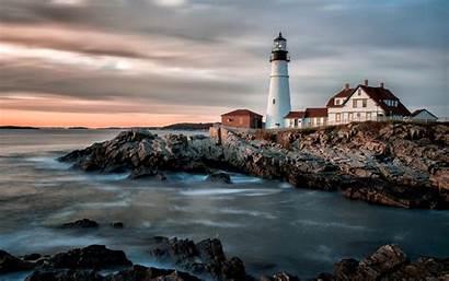 Maine Lighthouse Coast Portland Wallpapers Screensavers Usa