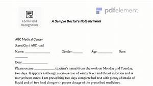 Doctors Excuse Pdf Doctors Note For Work Template Download Create Fill And