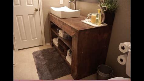 build  bathroom vanity youtube