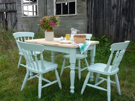 Pine Farmhouse Table And 4 Chairs Painted Vintage Antique Farmhouse  Furniture - Old Farmhouse Table And Chairs - Lovingheartdesigns
