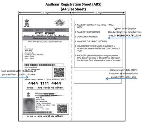 link aadhaar number  lpg consumer number sa post
