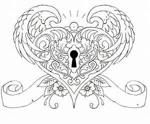 Wings, heart, keyhole | Tattoos | Pinterest | Locks, Wings ...