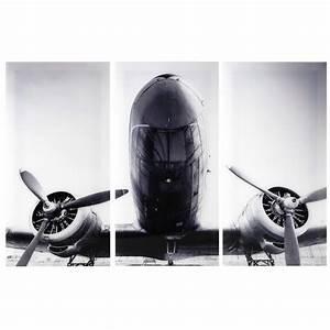 Triptyque avion en plexir 120 x 180 cm aircraft maisons for Triptyque maison du monde