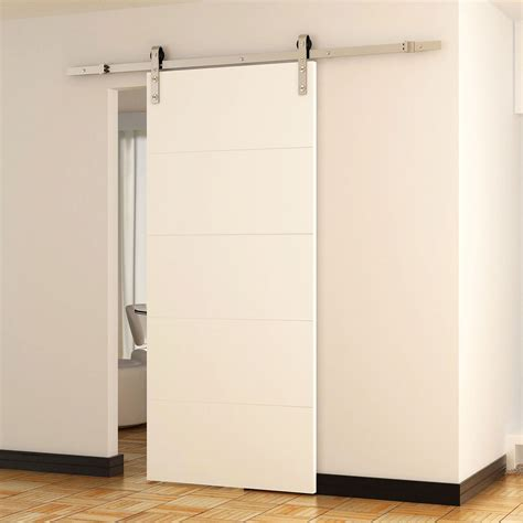 Barn Sliding Door Hardware Canada by Homcom Modern 8 Interior Sliding Barn Door Kit Walmart