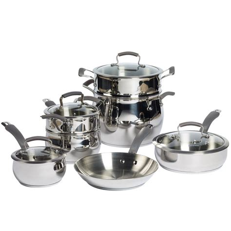cookware epicurious stainless steel piece kitchen qvc sets pc ceramic collection fal boiler amazon double precision items bakeware qt covered