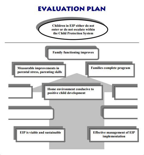 evaluation plan template evaluation plan 7 free for pdf sle templates