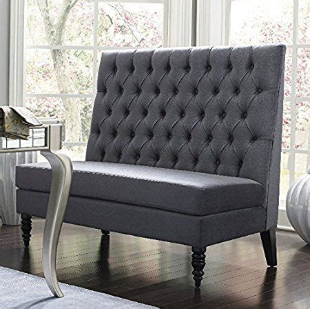 Settee Bench With Back by Silver Modern Banquette Bench Seating With