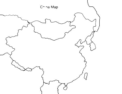 Free Coloring Pages Of Outline Map Of China