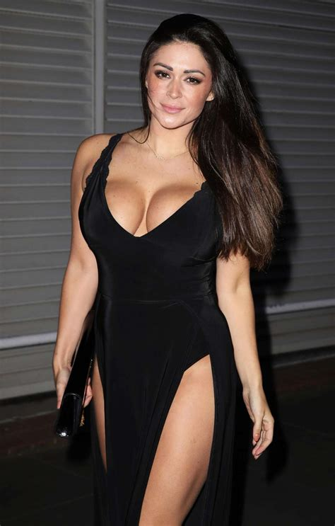 casey batchelor  black dress night   london gotceleb