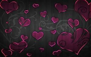 Pink and Black Heart Wallpaper - WallpaperSafari