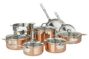 viking culinary   copper cookware set  pc stainless steel  ebay