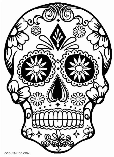 printable skulls coloring pages  kids coolbkids