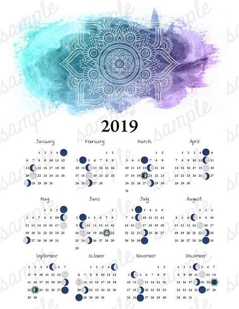 moon phase calendar mandala equinox solstice astronomy moon