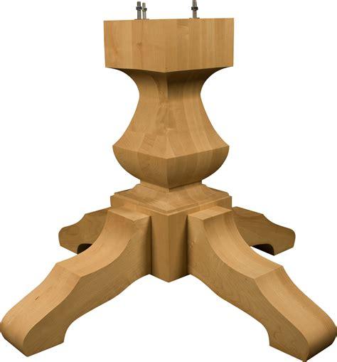 wood pedestal table base kits wood pedestal table base tjihome