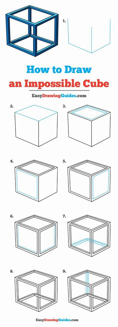 Impossible Cube Draw Drawing Easy Tutorial 3d