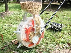 Manual Hand Push Corn Seeder Vegetable Seed Planter For
