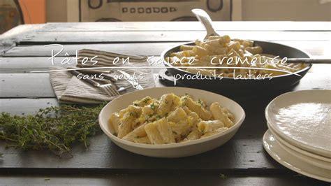 produits cuisine pâtes en sauce crémeuse sans oeufs ni produits laitiers