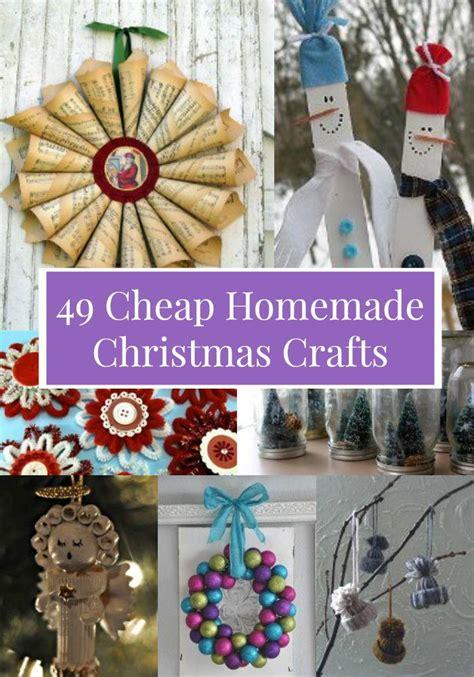 49 Cheap Homemade Christmas Crafts
