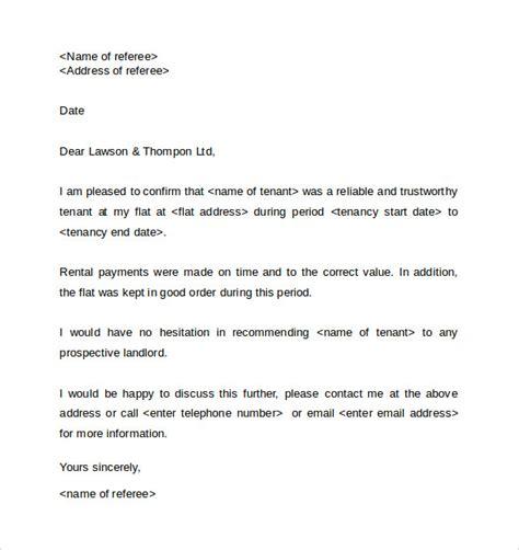 writing  employee reference  landlord