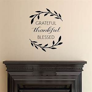 Grateful Thankful Blessed Wall Quotes™ Decal WallQuotes com