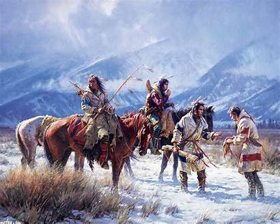 Native American Last Artistic Indian Painting Martin