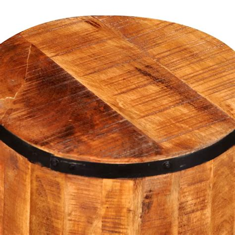Rough Mango Wood Stool Vidaxlcouk