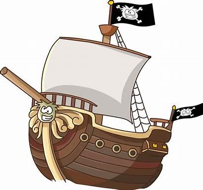 Pirate Ship Cartoon Transparent Clipart Boat Background