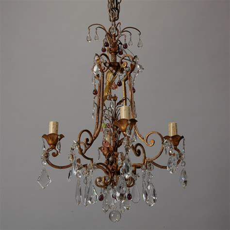 colored chandelier italian chandelier with colored drops item 1393