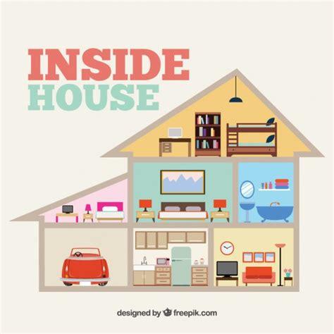interior log homes inside house vector free
