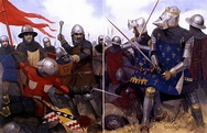 King John II of France is captured by the English...