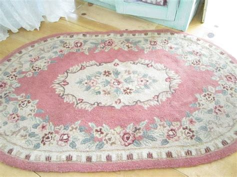 pink shabby chic rug reserved kelly fabulous shabby chic pink wool latch hooked rug with r
